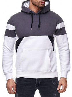 Color Block Thick Pullover Casual Winter Hoodies