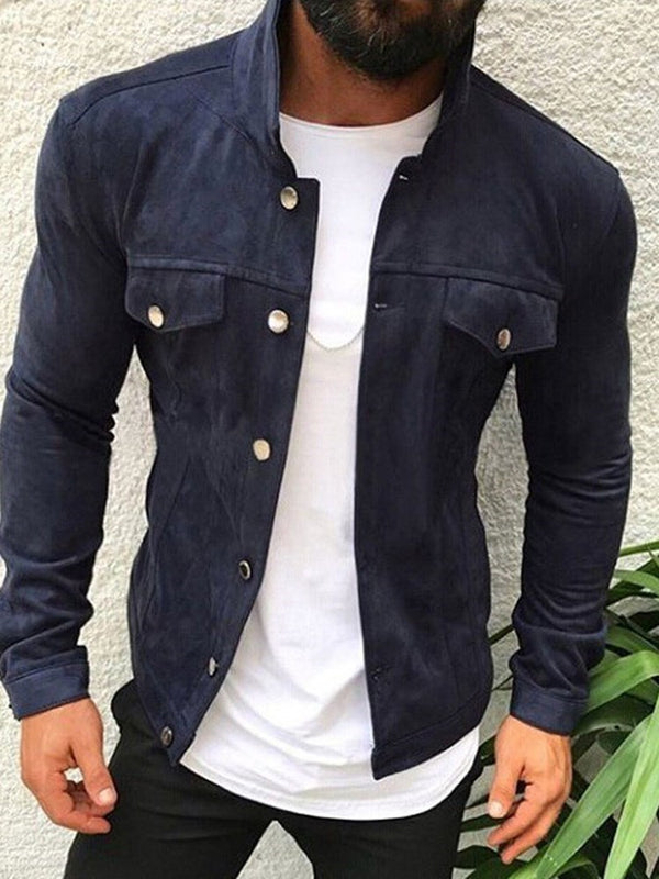 Plain Thick Pocket Spring Casual Jacket