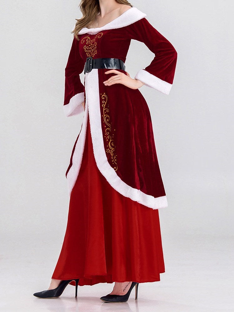 Classic Halloween Print European Long Sleeve Polyester Costumes