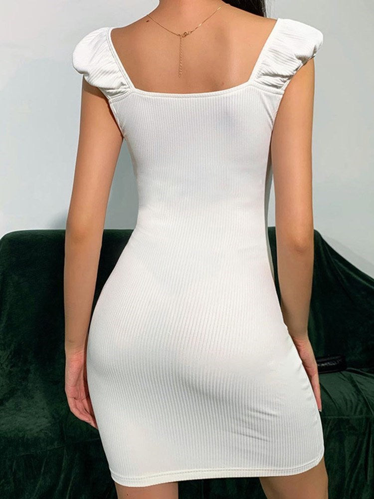 Above Knee V-Neck Short Sleeve Pullover Regular Dress
