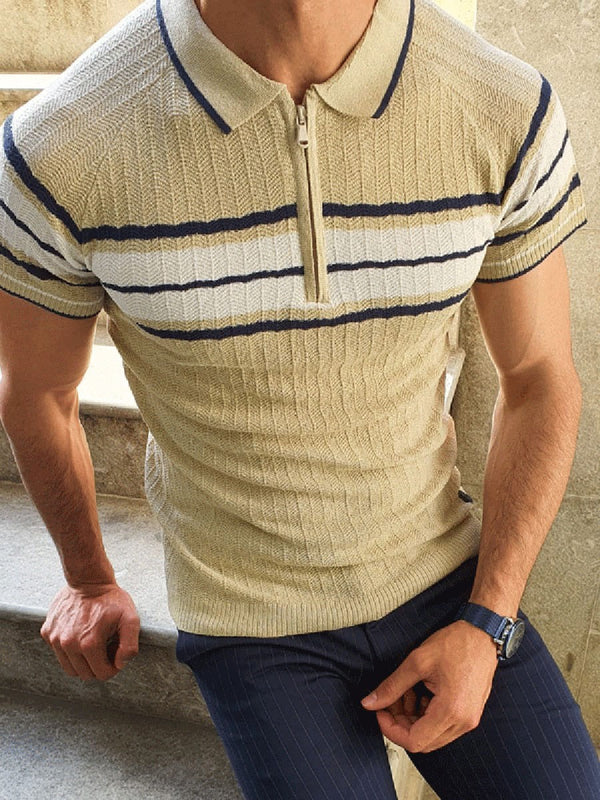 Stripe OL Button Polo Shirt