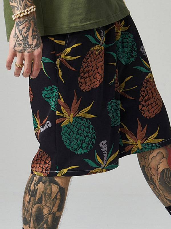 Floral Loose Print Casual Shorts
