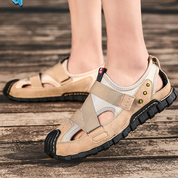 Flat Heel Slip-On Low-Cut Upper Hollow Round Toe Sandals
