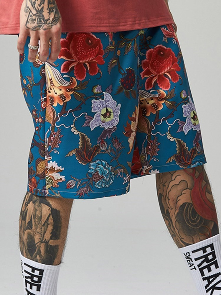 Harem Loose Floral Casual Mid Waist Shorts