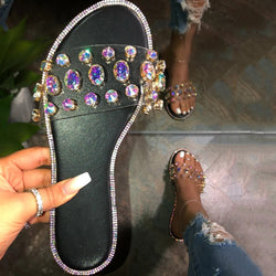 Flip Flop Flat With Beads Slip-On Summer Slippers