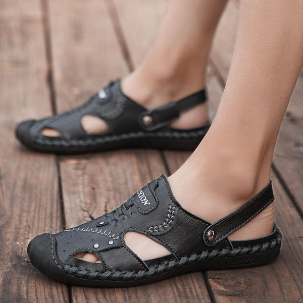 Slip-On Flat Heel Low-Cut Upper Round Toe Thread Sandals