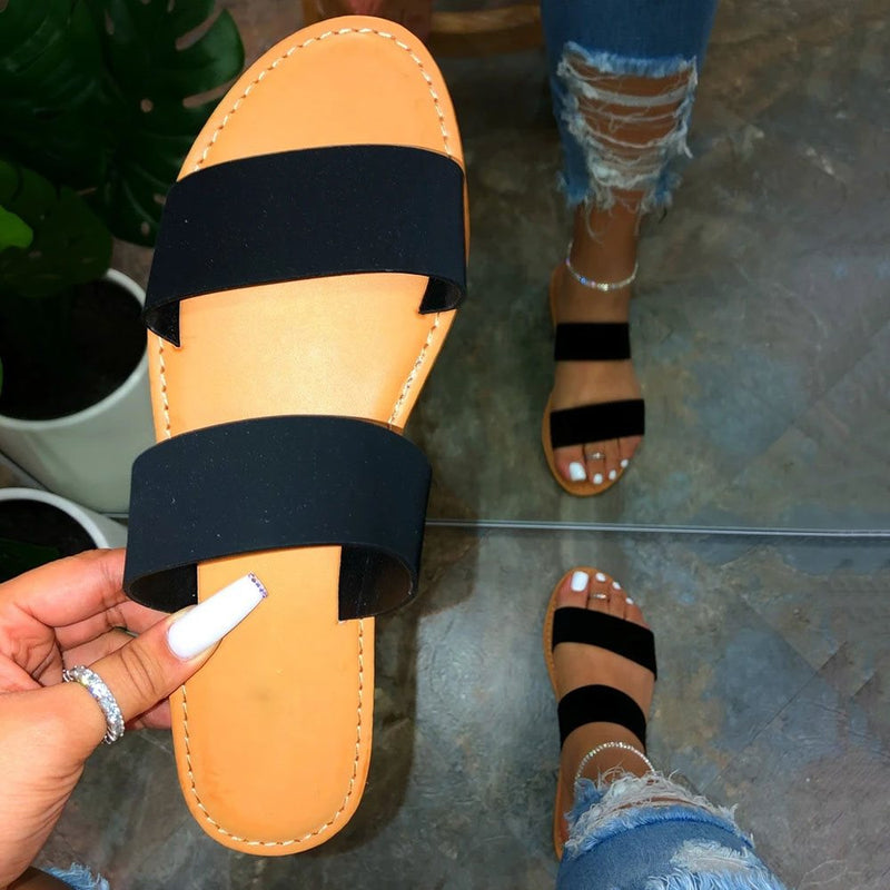 Slip-On Flip Flop Block Heel Casual Summer Slippers