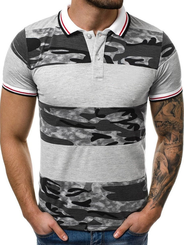 Casual Polo Neck Print Polo Shirt