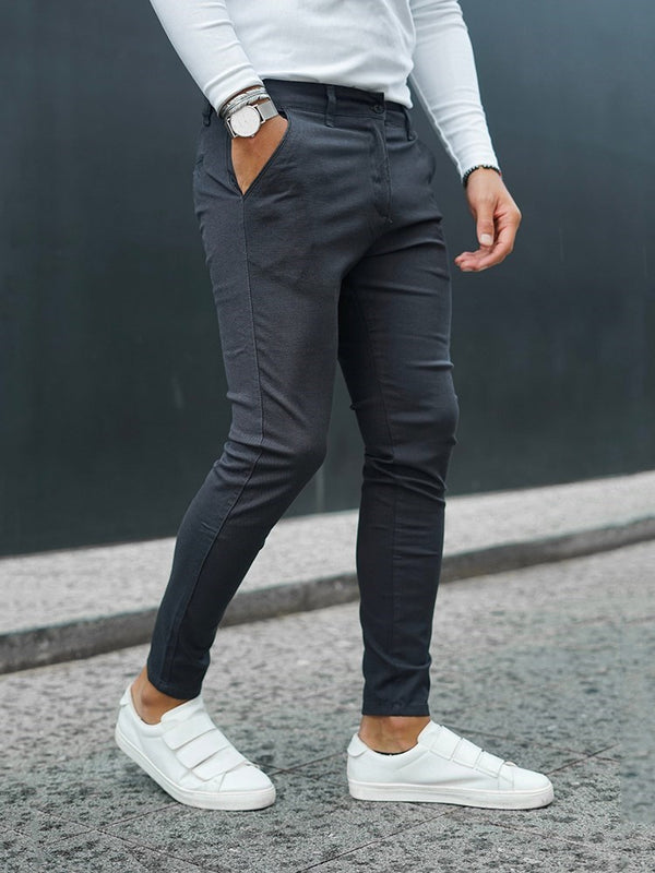 Plain Pencil Pants Casual Zipper Casual Pants