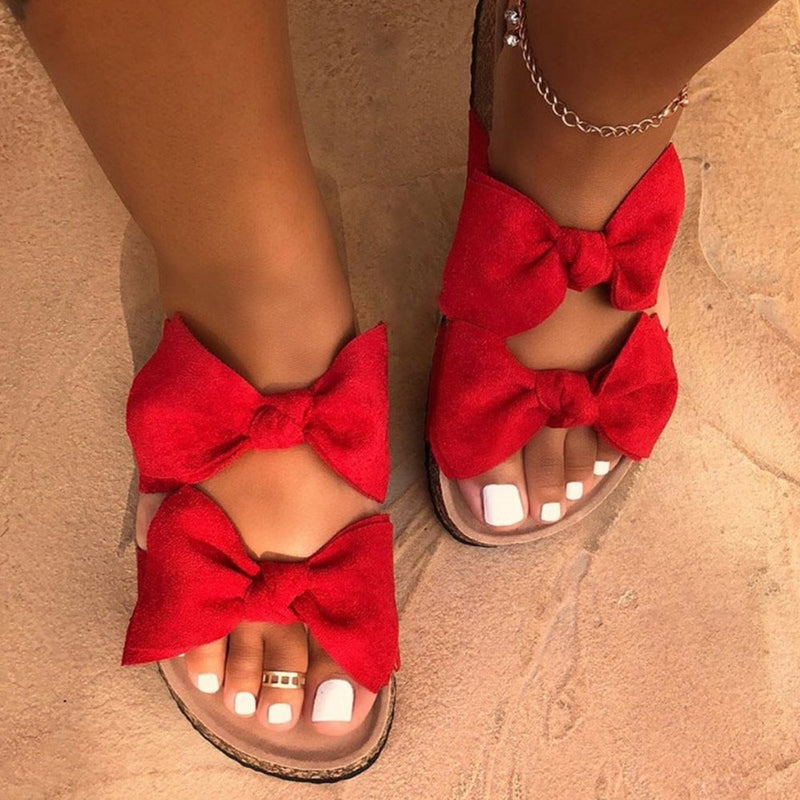 Flip Flop Flat With Slip-On Bow Summer Slippers