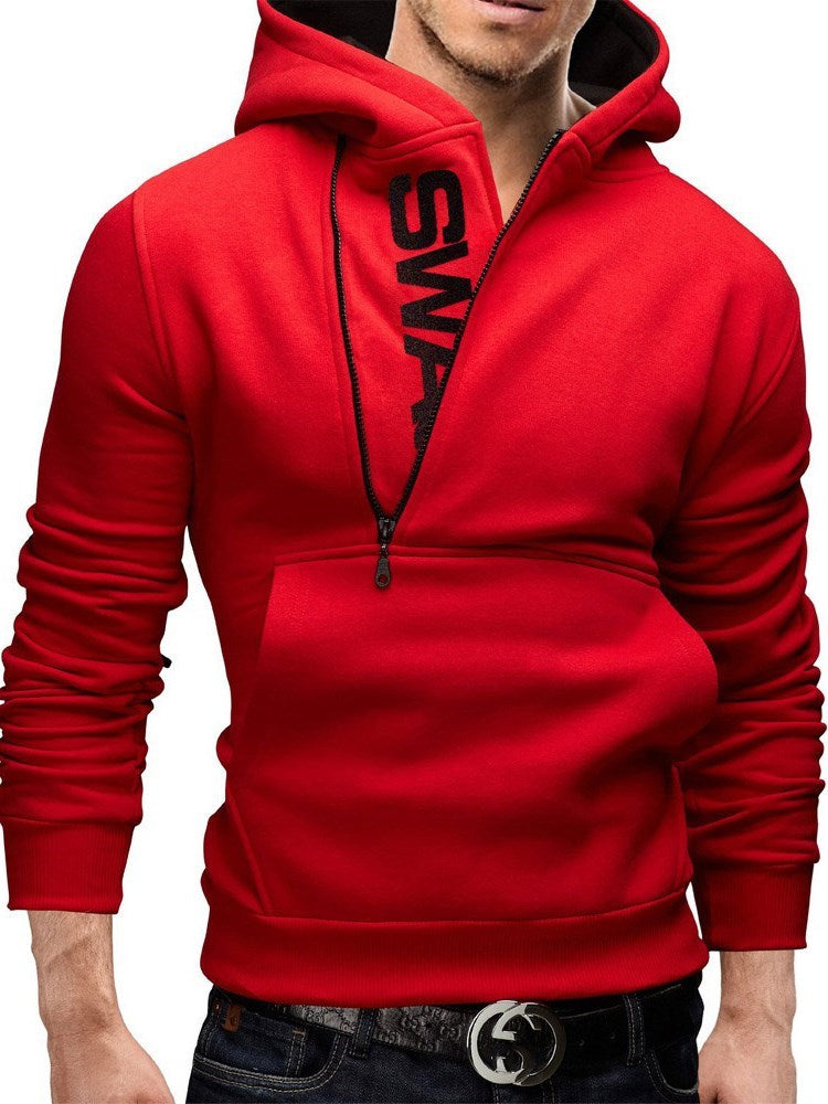 Letter Thick Pullover Slim Fall Hoodies