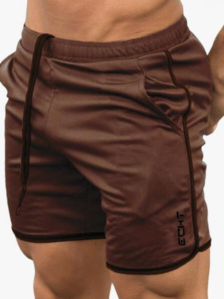Slim Casual Lace-Up Shorts