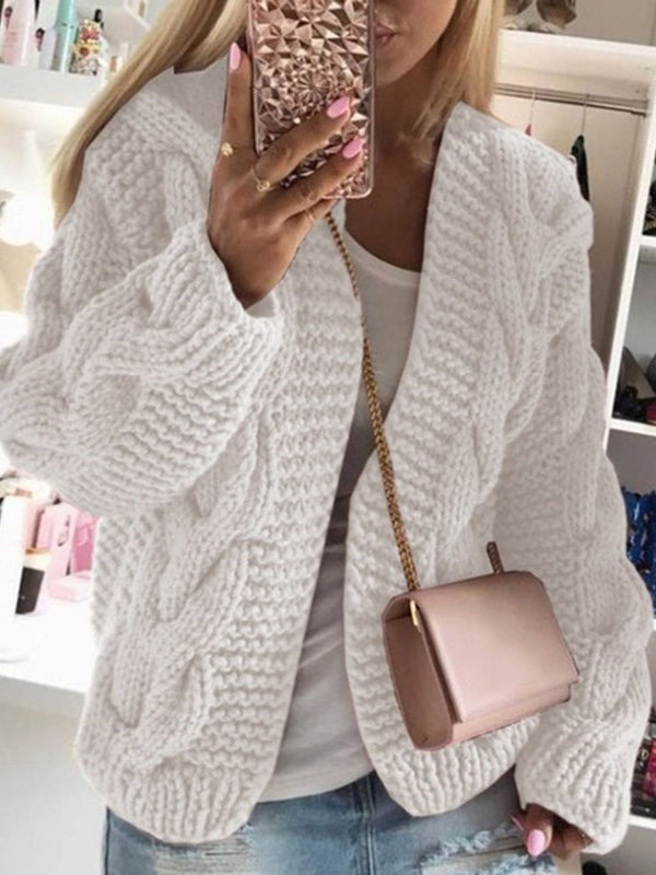 Thin Patchwork Long Sleeve Standard Sweater