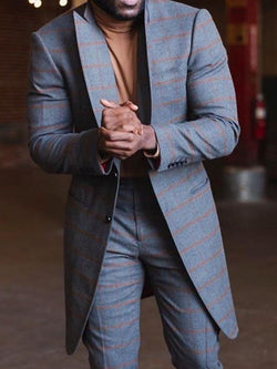 Plaid Slim Print leisure Suit