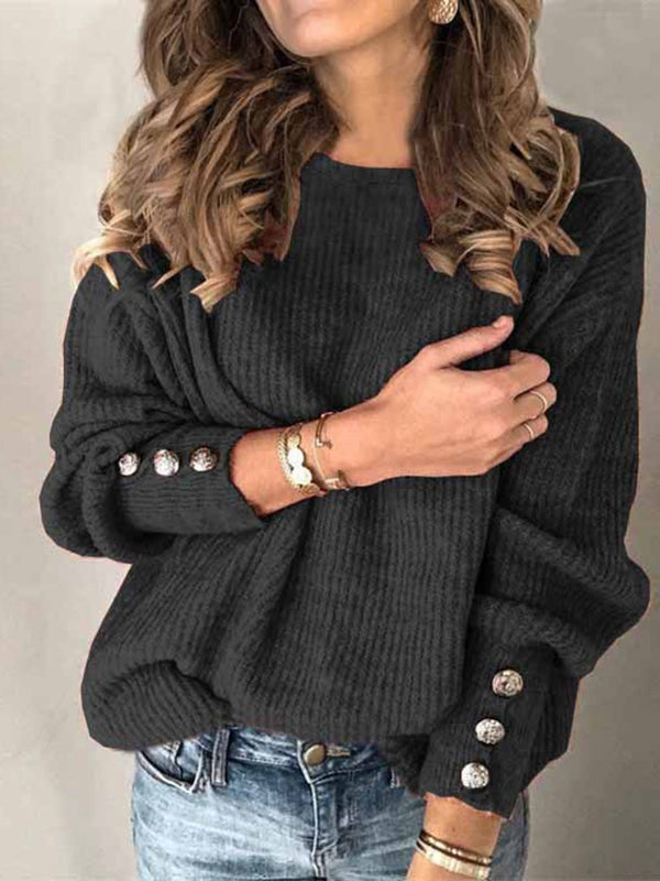 Patchwork Fall Long Sleeve Sweater