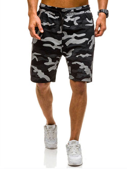 Harem Print Camouflage Low Waist Casual Shorts