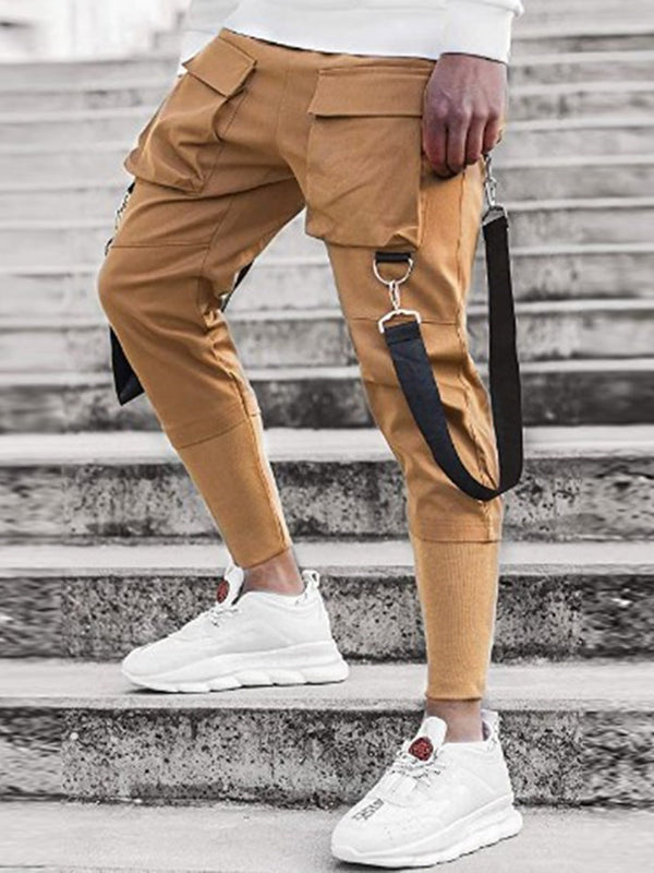Plain Pocket Overall Four Seasons Elastics Casual Pants