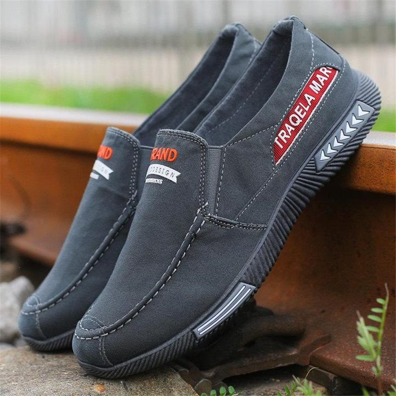 Low-Cut Upper Flat Heel Slip-On Letter Round Toe Thin Shoes