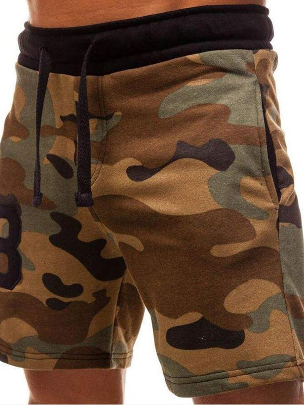 Camouflage Print Harem Casual Lace-Up Shorts
