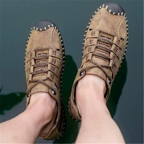 Flat Heel Plain Lace-Up Low-Cut Upper Round Toe Thin Shoes