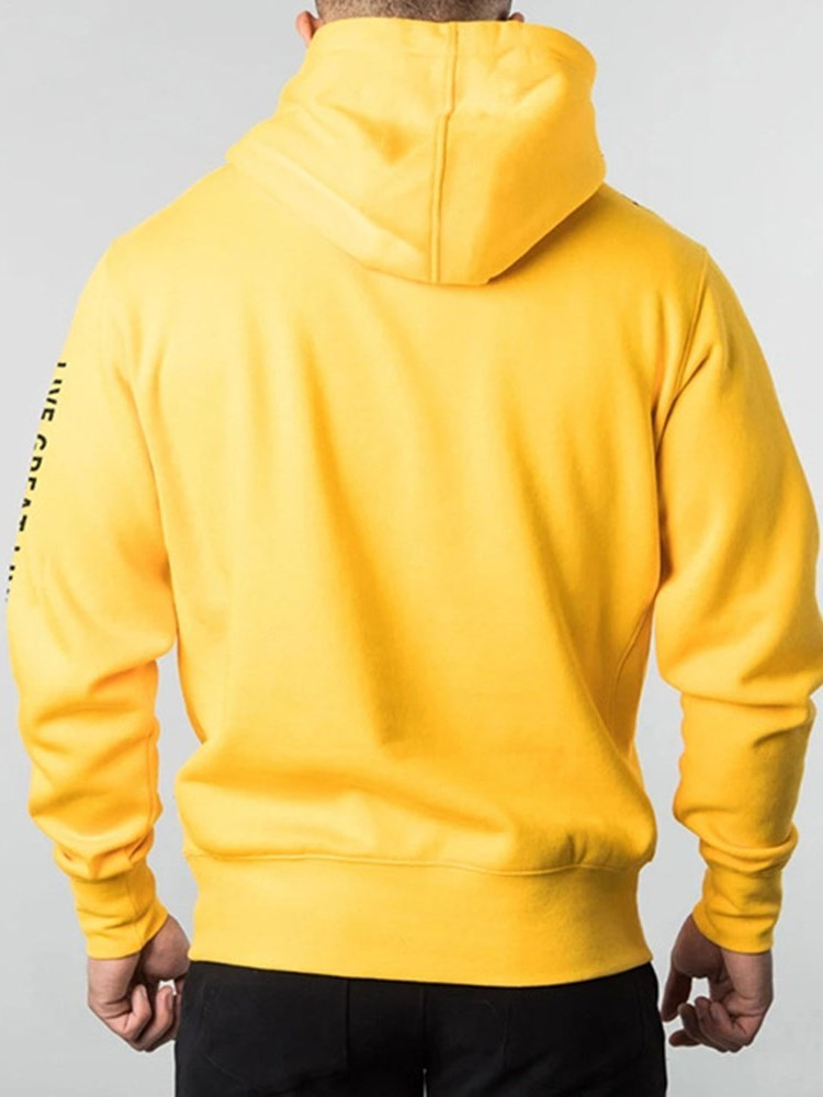 Pullover Print Fleece Casual Pullover Hoodies