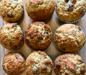 Cranberry, Maple sugar, Apple Muffins