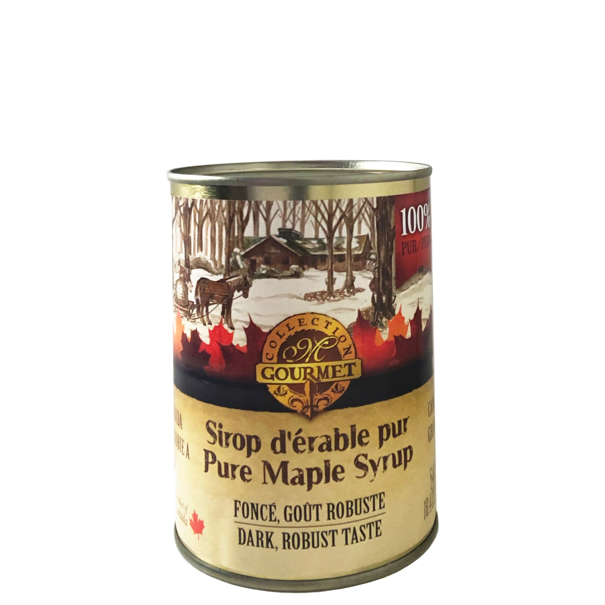 Pure maple Syrup - purer Ahornsirup aus Kanada, Grade A, Dark, traditionelle Dose - Can 540ml