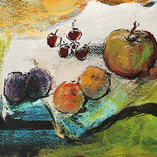 "Kunst-Grußkarte ""Fruits"" Basque"