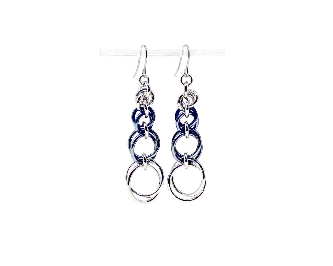 Bubbles Spiral Chainmaille Earrings
