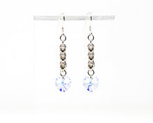 Load image into Gallery viewer, Crystal Heart Sterling Silver Earrings