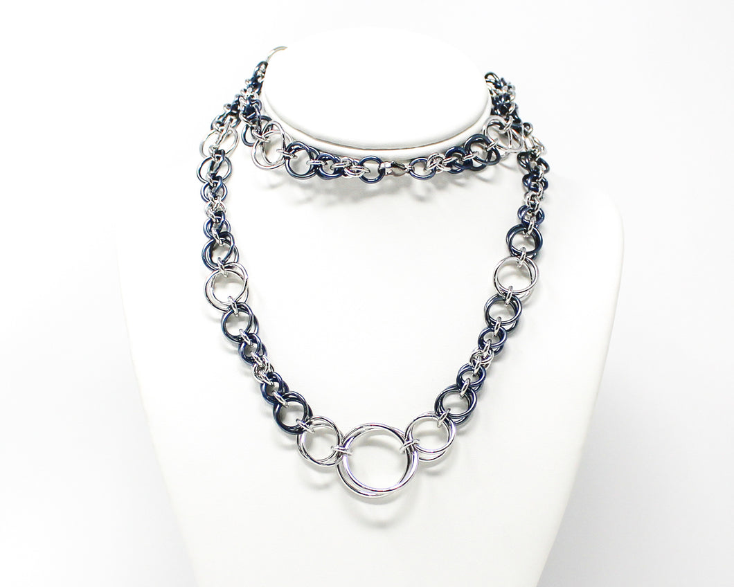 Bubble Spiral Chainmaille Necklace