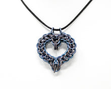 Load image into Gallery viewer, Titanium Heart Chainmaille Pendant