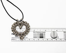 Load image into Gallery viewer, Chainmaille Heart Stainless Steel Pendant