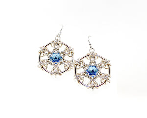 Fleur de Snowflake Crystal Earrings