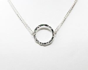 Hammered Sterling Silver Collar Necklace