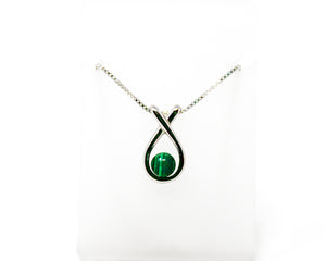 Sterling Silver Malachite Slide Pendant