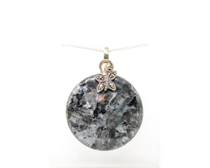 Blue Labradorite with Marcasite Sterling Silver Pendant