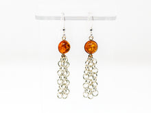 Load image into Gallery viewer, Baltic Amber Sterling Silver Tassel Earrings
