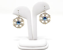 Load image into Gallery viewer, Fleur de Snowflake Crystal Earrings