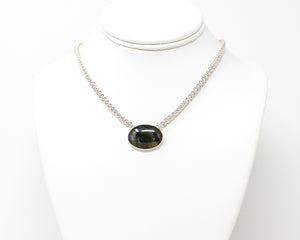Labradorite Sterling Silver Spiral Necklace