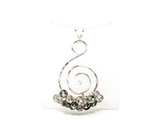 Load image into Gallery viewer, Sterling Silver Tourmalinated Quartz Spiral Cluster Pendant