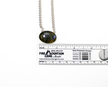 Load image into Gallery viewer, Labradorite Sterling Silver Spiral Necklace