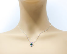 Load image into Gallery viewer, Sterling Silver Malachite Slide Pendant