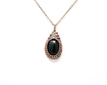 Load image into Gallery viewer, Black Onyx Copper Wire Wrapped Pendant