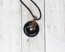 Load image into Gallery viewer, Black Onyx Wire Wrapped Pendant