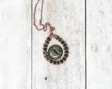 Load image into Gallery viewer, Golden Sheen Obsidian Copper Wire Wrapped Pendant