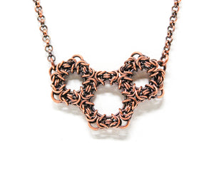 Copper Geometric Byzantine Necklace