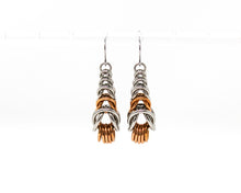 Load image into Gallery viewer, Graduated Box Steel Bronze Earrings