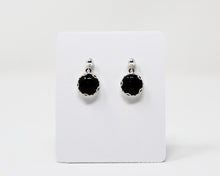 Load image into Gallery viewer, Black Onyx Stud Drop Earrings