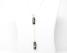 Load image into Gallery viewer, Sterling Silver Rutilated Quartz Lariat Necklace